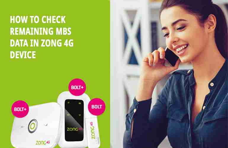 How to Check Zong Remaining MBs, Minutes & SMS
